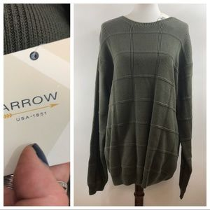 Arrow Olive Men's Large Tall Crew Neck Sweater